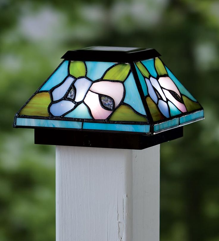 39 Best Images About Stained Glass Post Caps On Pinterest