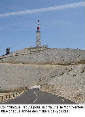 Mt Ventoux, the right place for the the lovers of cyclism