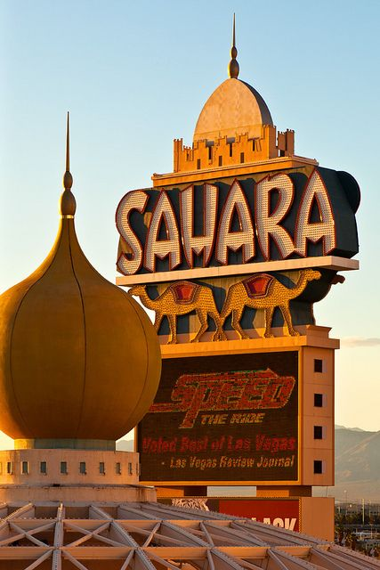 Sahara Hotel-Casino  Las Vegas, Nevada  1952-2011. I stayed here once after a week of camping in death valley.