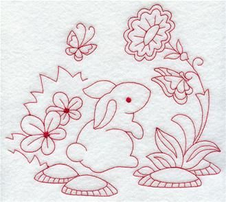 Machine Embroidery Designs at Embroidery Library! - Easter (Redwork and Vintage)