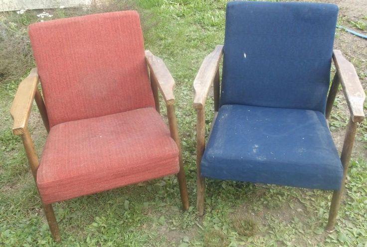 Fotele  Fomag PRL ,możliwa renowacja.tel:501198681
