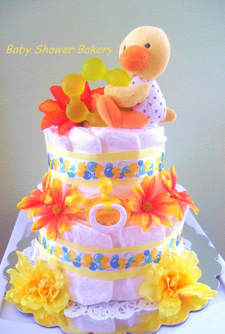 8 best baby shower images on pinterest baby shower parties baby this adorable gender neutral diaper cake will be the perfect gift for any new baby
