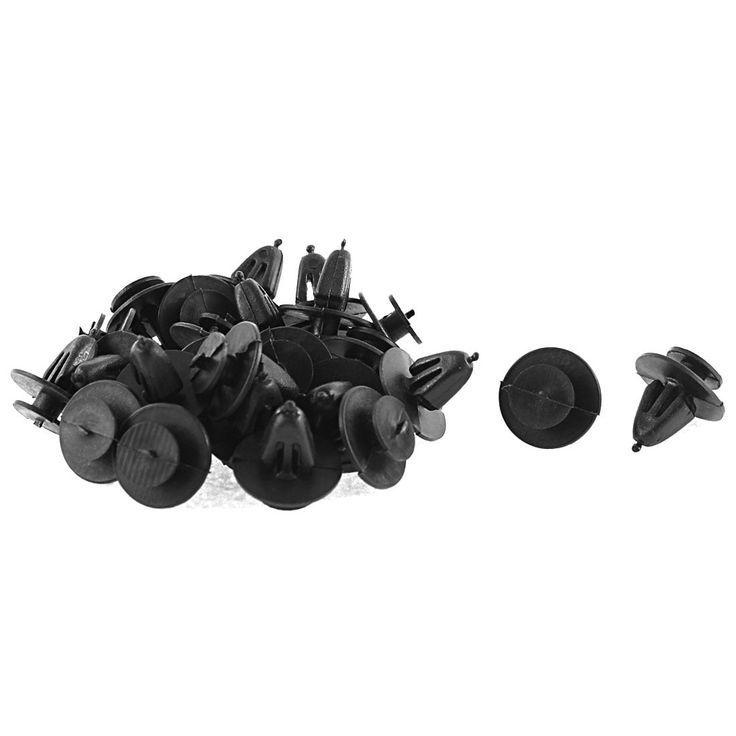 Unique Bargains 25 Pcs Black Plastic Mat Interior Door Rivet for Volkswagen Jetta