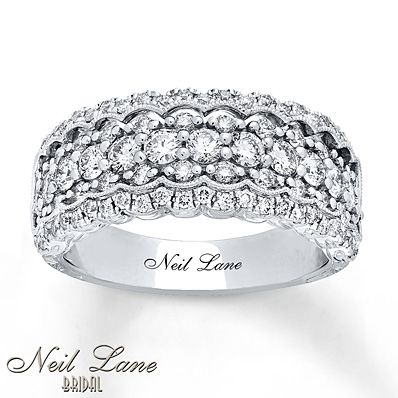 Neil Lane Bridal Ring 1 1/4 ct tw Diamonds 14K White Gold