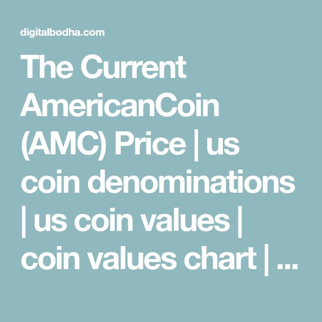 The Current AmericanCoin (AMC) Price | us coin denominations | us coin values | coin values chart | foreign coin values