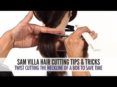 Twist Cutting The Neckline of a Bob To Save Time @mljones1017 these videos are great!
