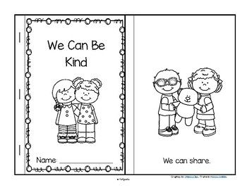 ***FREE***  This is a booklet to make, a sample from my Martin Luther King pre-K curriculum. It features ways that young children can show kindness to each other. #kindnessnation