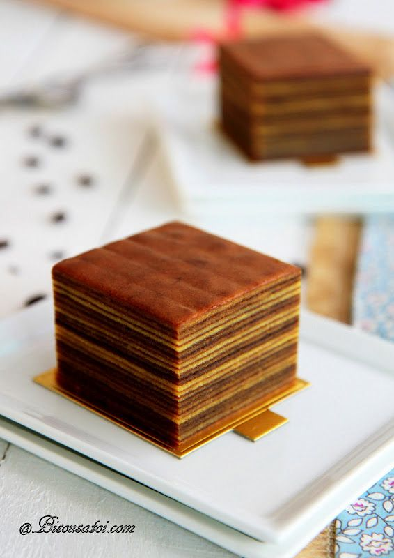 Indonesian mocha layer cake