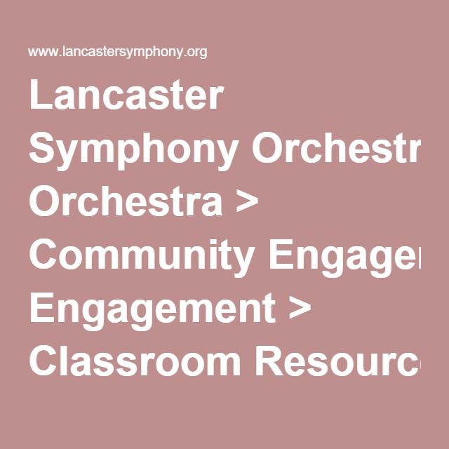 Lancaster Symphony Orchestra > Community Engagement > Classroom Resources > Activities for Children