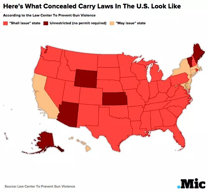 The  Best Concealed Carry Map Ideas On Pinterest Concealed - Us carry map