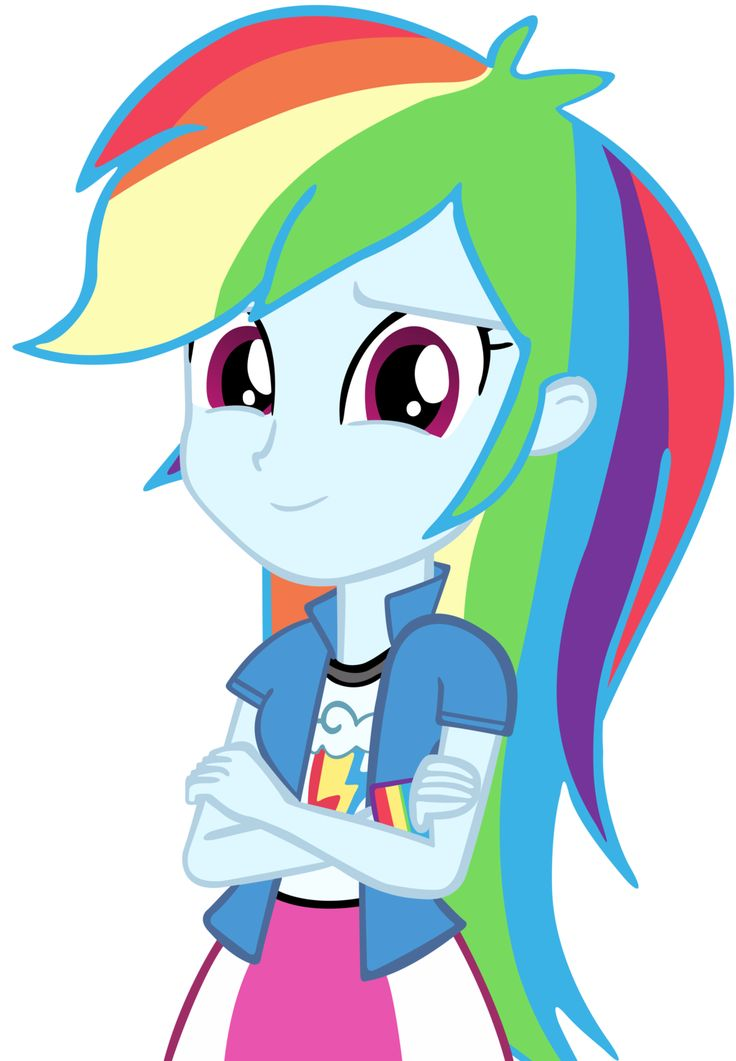 A Vector Of Rainbow Dash From The Equestria Girls Trailer Human