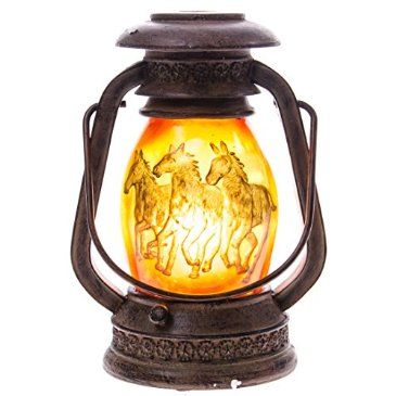 Light the way with this exclusive Lantern Lamp with Horse Pattern. It's only available at the Cracker Barrel gift shop!