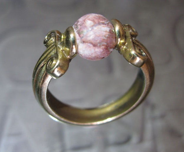 Minerva ring, bronze and skin leopard stone. Mirko Clementi Colossevm Collection