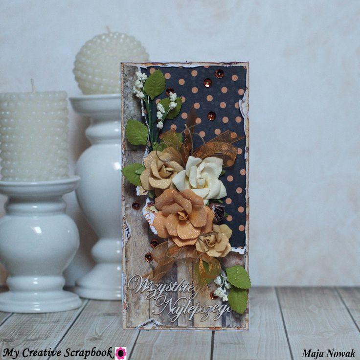 Maja Nowak, CraftHobby Oliwiaen: Kartka okolicznościowa. #birthdaycard; #scrapbooking; #polandhandmade