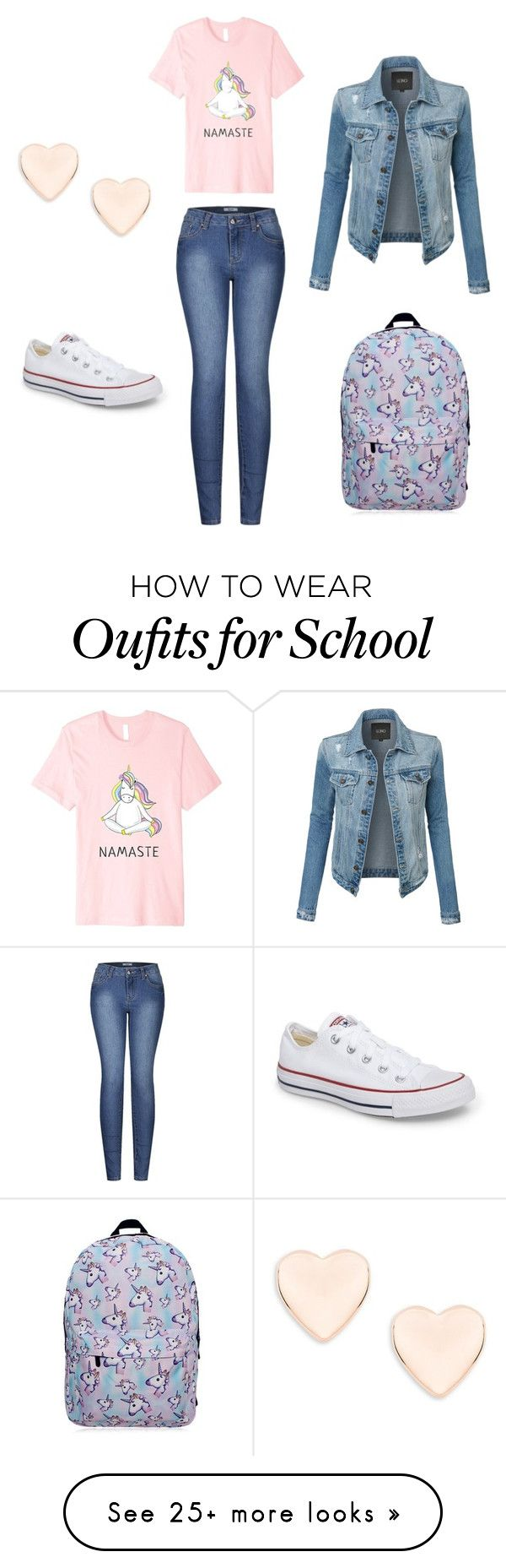"""School"" by barbarapereira110 on Polyvore featuring 2LUV, Converse, LE3NO and Ted Baker"