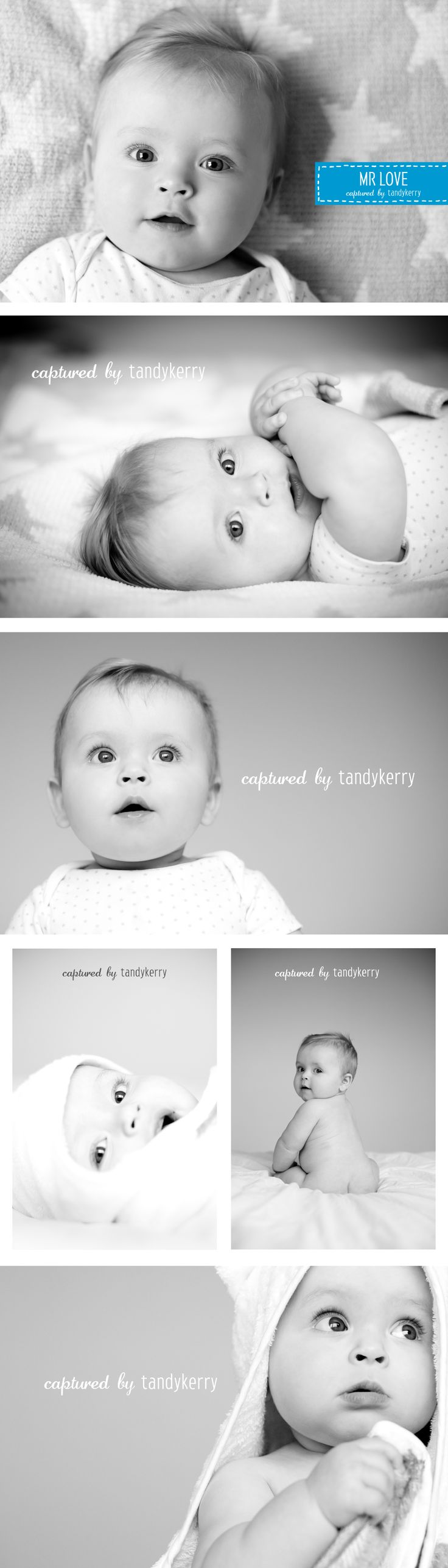 Simple baby photos - love how the personality shines through instead of cutesy stuff that will look dated in a few years
