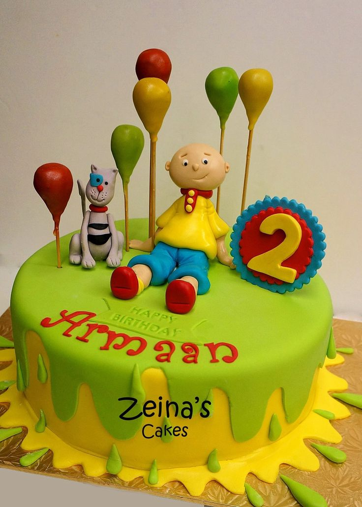 31 best Caillou Cakes images on Pinterest Caillou cake Birthday