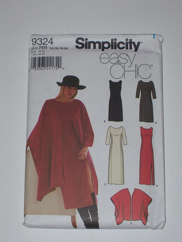 Simplicity 9324: Wraps Patterns, Wrap Pattern, Sewing Patterns