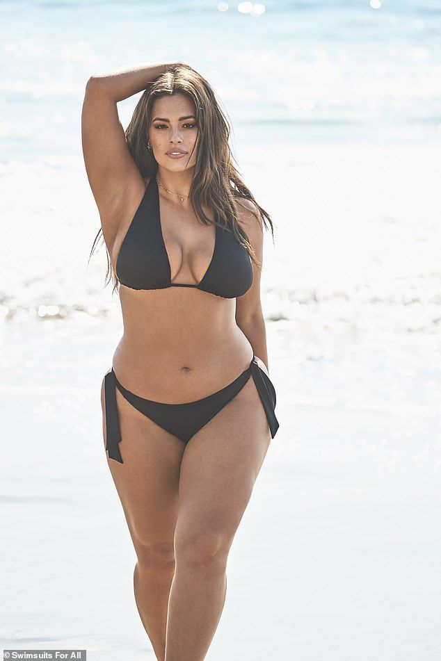 Ashley Graham reveals her new hot pink one piece swimsuit