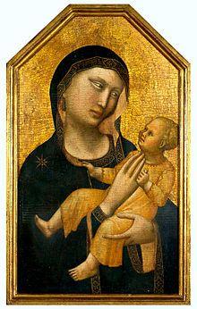 Maestro di San Martino alla Palma - Vergine e il Bambino ( 1310-1320 ). Museo d'arte di San Paolo, Brasile.