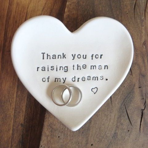 Image of  Mother of the Groom Gift, Thank You for Raising the Man of my Dreams, Gift Boxed, MADE TO ORDER