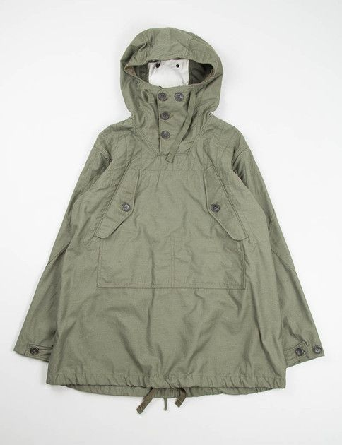 Engineered Garments Olive Nyco Reversed Sateen Over Parka