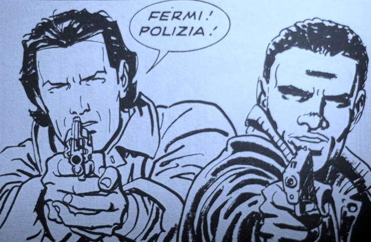 Nick Raider e Marvin Brown  disegno di Bruno Brindisi