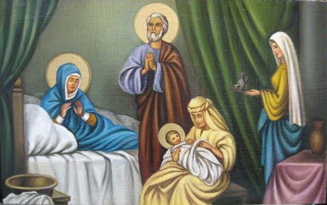 Рождество Пресвятой Богородицы (холст,масло) - художник Ядвига Сенько