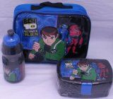 Ben 10 - Ultimate Alien: Insulated School Lunch Kit Bag with Sandwich Box and Bottle