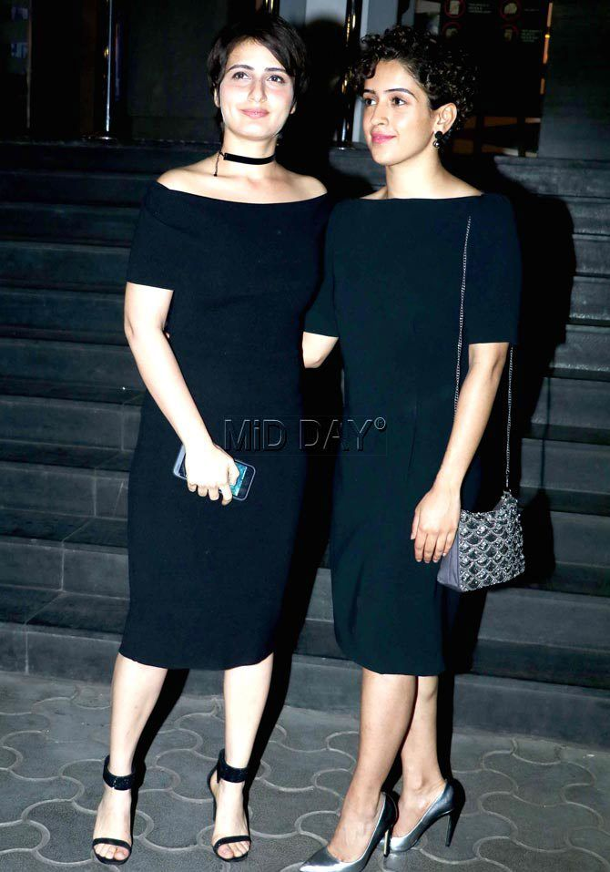 Fatima Sana Shaikh and Sanya Malhotra at #Dangal screening. #Bollywood #Fashion #Style #Beauty #Hot #Sexy