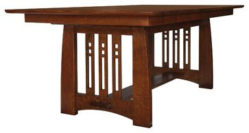 Stickley Self Storing Dining Table 89/91-598 - craftsman - dining tables - new york - Stickley Furniture
