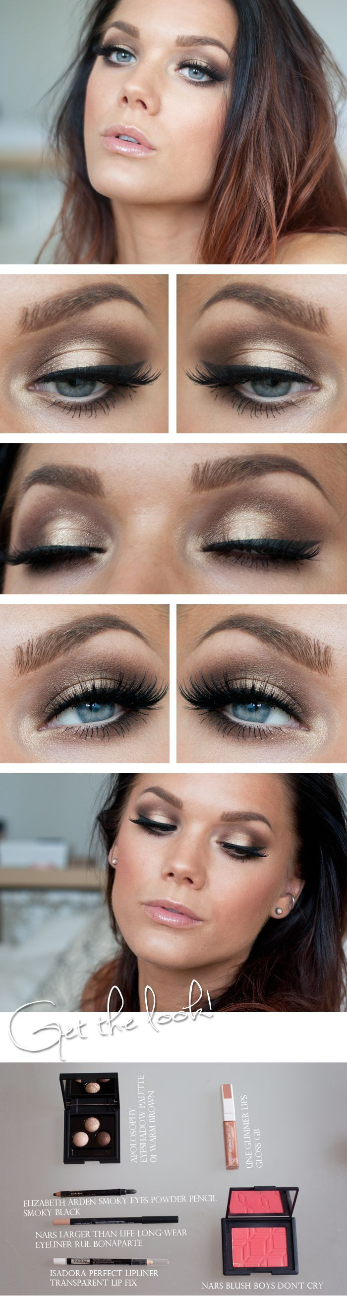#smoky #gold eyes #makeup, very elegant!