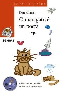 Fran Alonso. Ed. Xerais.A través dos enredos dun gato poeta, descubrimos outro xeito de ollar a poesía: como algo lúdico, divertido, desmitificado. O meu gato é un poeta ten moito de xogo, de obradoiro; e bota man dos máis diversos tipos de poesía, incluíndo caligramas, xogos de palabras, poesía visual, narración, interacción, música... ao tempo que procura a interlocución coas novas tecnoloxías.
