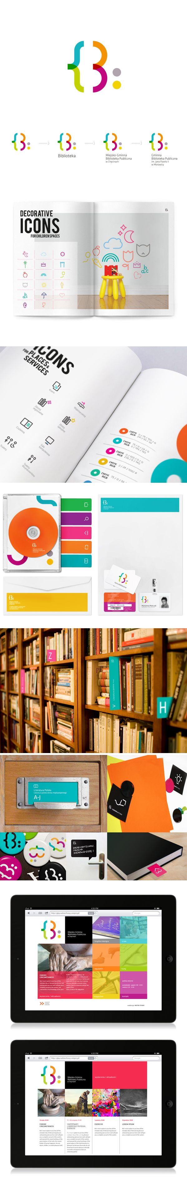 Jedem Geschäftsbereich eine eigene Farbe geben, die alle im Logo vorkommen