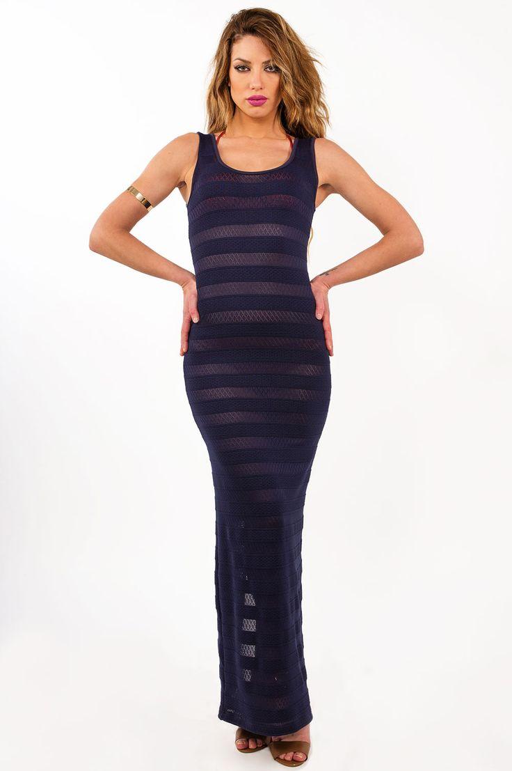Γυναικεία ρούχα : Φόρεμα μακρύ για παραλία ΜΠΛΈ ΙΝΤΊΓΚΟ