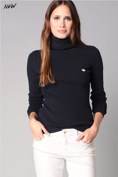 Pull col roulé navy laine cachemire See by Chloé prix Pull Femme Monshowroom 210.00 €