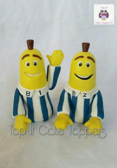 Banana And Pyjamas Fondant Cake Topper