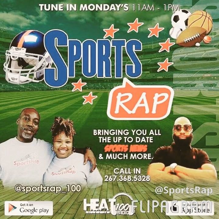 Coming up  Monday Morning 11a-1p. Your Favorite Sports Crew is Back in Studio. Plenty to Discuss Should be a Great Show Be sure to tune in Download the FREE App The number to join the Discussion 267-368-5328. #sportsrap #heat100radio #sports #sportstalk #sixers #esgles #nfl #nba #scores #updates #schedules #hiphop #trendingstories