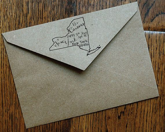 Make every envelope a little fancier with this custom address stamp with your state!