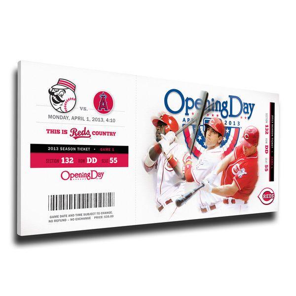 Cincinnati Reds 2013 Opening Day Mega Ticket, Your Price: $79.99