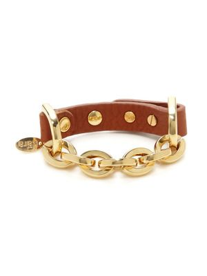 Cara Couture Jewelry Leather Link Bracelet
