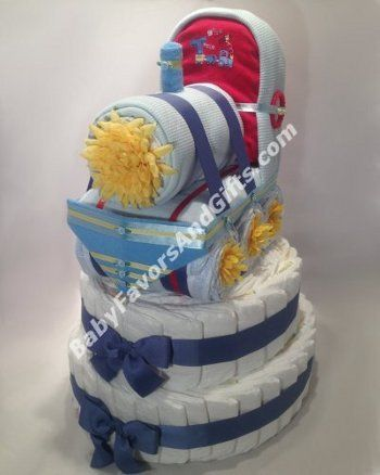 #ChooChooTrain #babyshower diaper cake, Just wanted to show some of our truly unique creations. For more pictures and information please visit BabyFavorsAndGifts.com