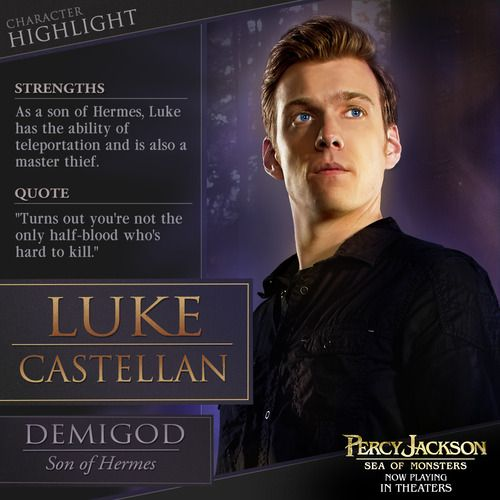 Son of Hermes and the Lightning Thief, Luke Castellan is on a quest to revive an ancient evil in Percy Jackson.