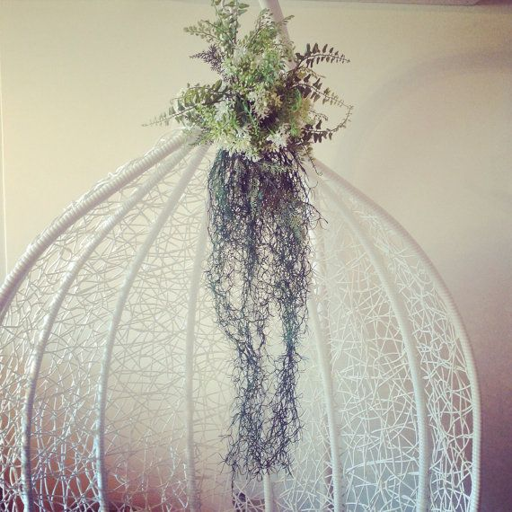 Artifical wedding bouquet for beach ,ocean,sea siren bride,green and white trailing,stunning showpiece on Etsy, $140.00 AUD