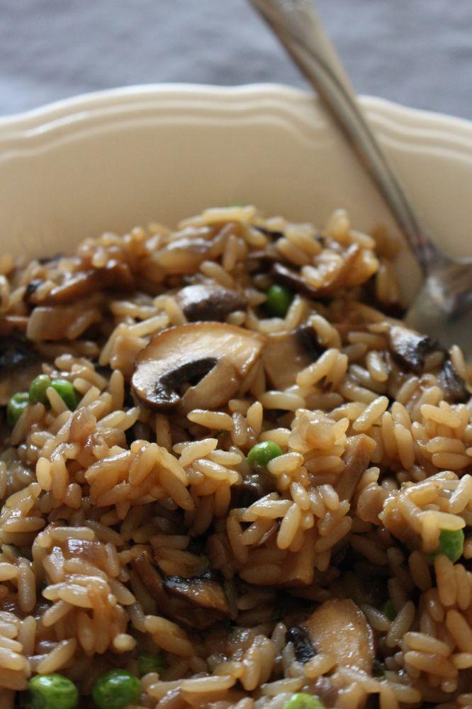 riz frit de Mary champignon pois verts