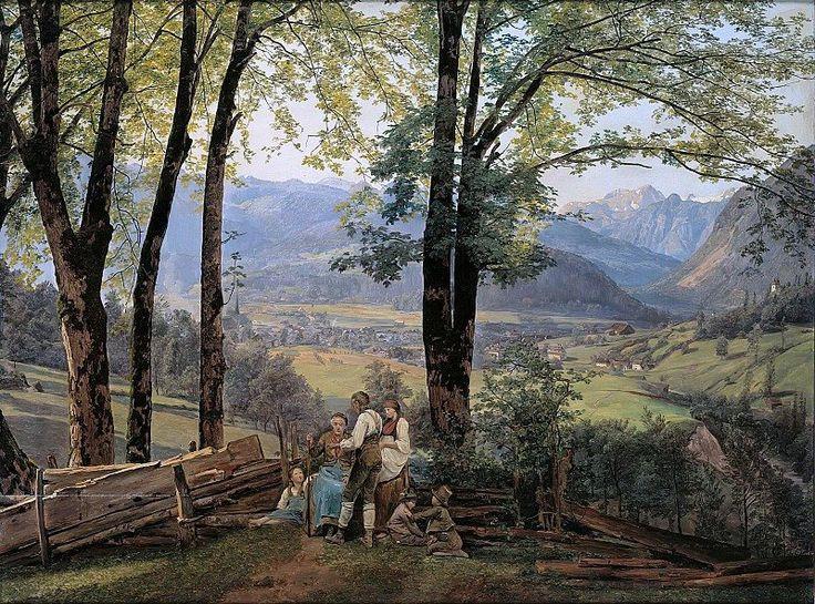 Ferdinand Georg Waldmüller (1793-1865)  View at Ischl from Sophienplatz