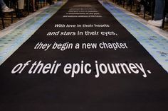 This custom runner by I Do! Aisle Runners features the intro to the intergalactic saga.
