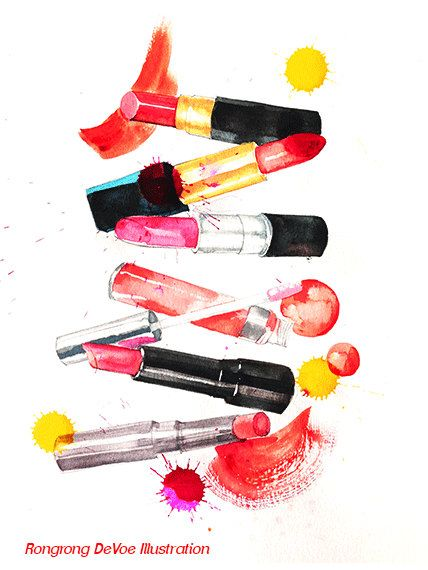 Fashion illustration, Lipstick Illustration, Fashion art print, Lipstick art, Home/office decor, Wall art #wallart #homedecor #fashionillustration