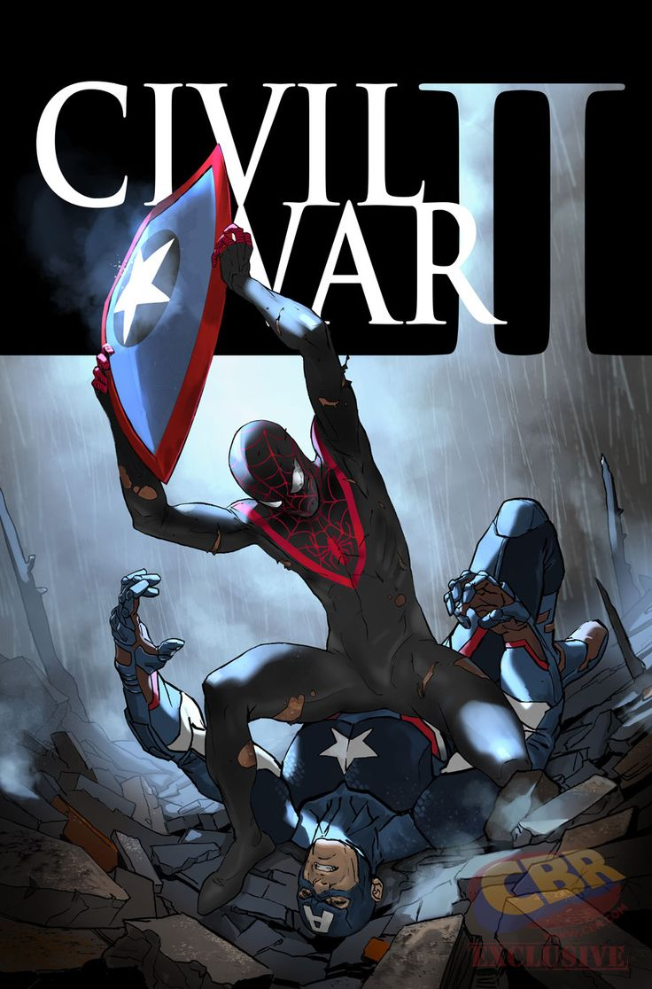 Civil War: El Capitán América de Hydra vs. el Spiderman de Miles Morales (FOTO)