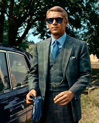 Steve McQueen's famous style as seen here in The Thomas Crown Affair